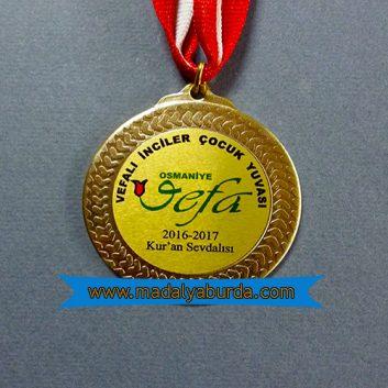 baskılı metalli madalya