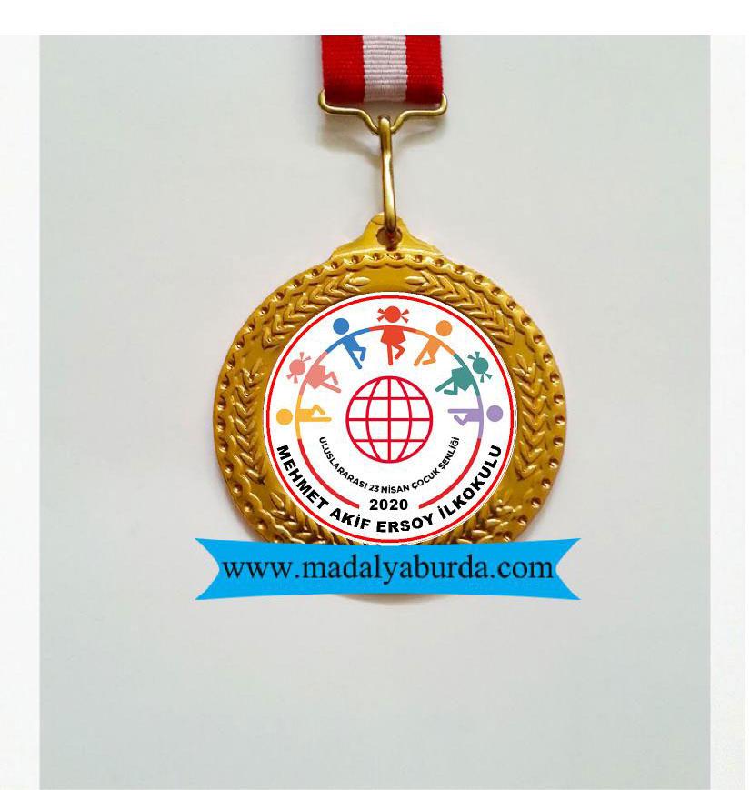 Altın  logolu madalya