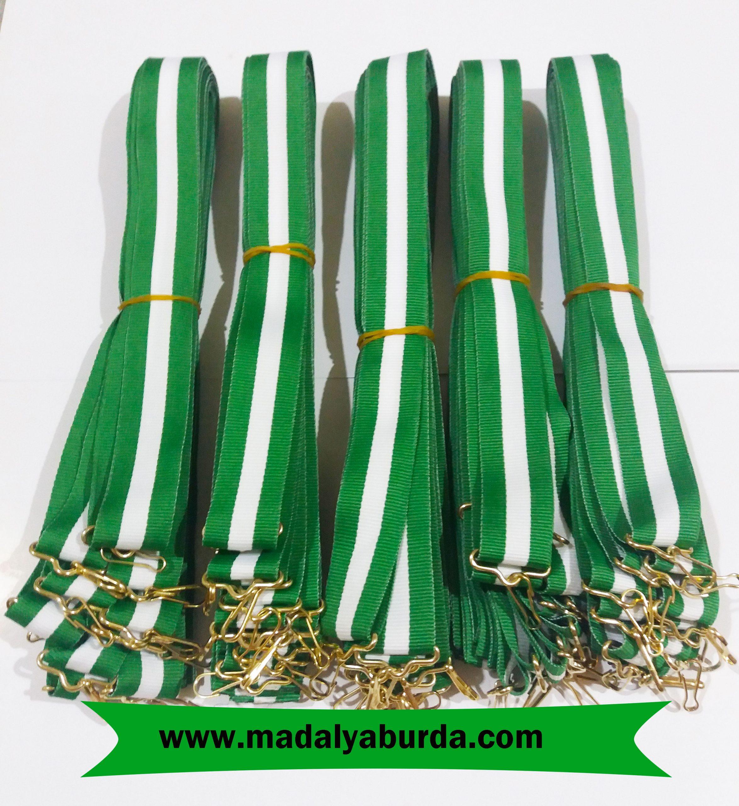 yeşil-beyaz-madalya-kurdelesi